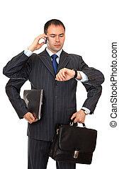 Busy businessman.