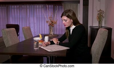 Busy Businesswoman Manager At Home