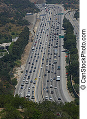 Busy Freeway Traffic in Los Angeles