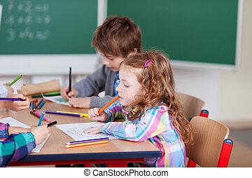 Busy schoolchildren