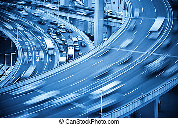 busy traffic closeup and road accident - car crash closeup...