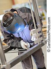 busy welder