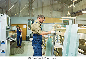 Busy Workers at Modern Furniture Factory