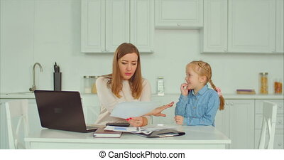 Busy working mother doesn't have time for her kid -...