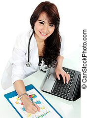 busy young doctor