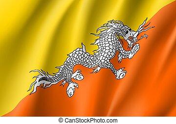Butane flag, vector flat style - Butane national flag....