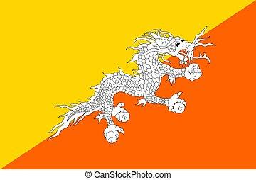 Butane flag, vector flat style - Butane national flag,...