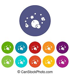 Butane icons set color - Butane icons color set for any web...