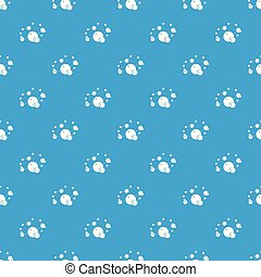 Butane pattern vector seamless blue