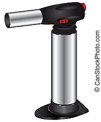 Butane torch - Butane lighter for culinary use. Vector...