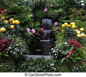 Butchart Garden on Vancouver Island, Canada. Luxury three-...