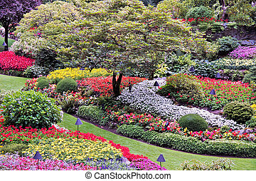 Butchart Gardens Brentwood Bay near Victoria Vancouver...