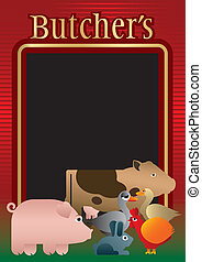 Butcher, background, menu