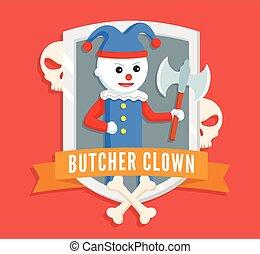 butcher clown logo