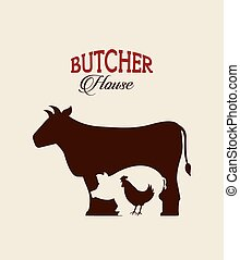 butcher concept design, vector illustration eps10 graphic