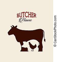 butcher concept design, vector illustration eps10 graphic