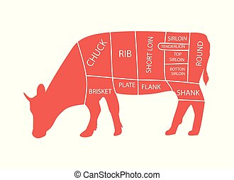 Butcher diagram cow