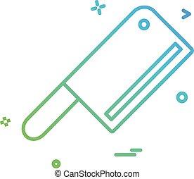 Butcher knife icon design vector