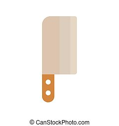 butcher knife on a white background