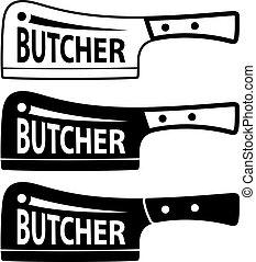 butcher meat cleaver chopper symbol - illustration for the...