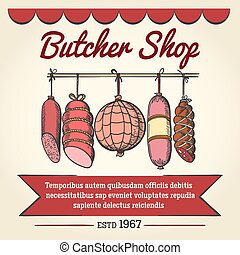 Butcher shop poster