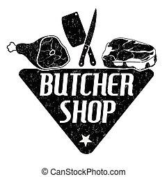 Butcher shop stamp