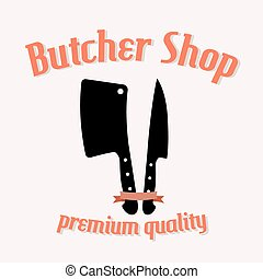 Butcher shop vector illustration