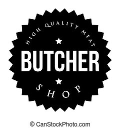 Butcher Shop vintage stamp vector