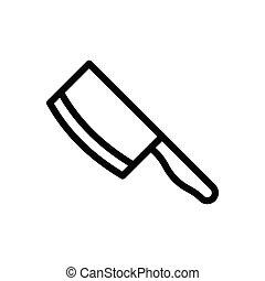 butcher  thin line icon