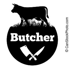 Butcher - Vector illustration of the logo for butcher