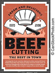 Butchery meat, barbecue and beef steak grill food