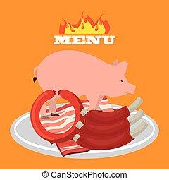 butchery shop design, vector illustration eps10 graphic