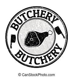 Butchery stamp