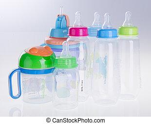 butelka niemowlęcia, butelka, tło