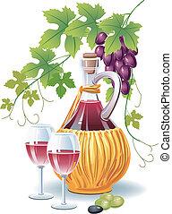 butelka, wino