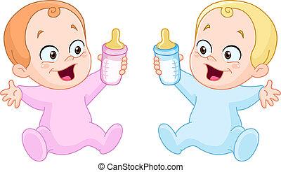 butelki, niemowlęta