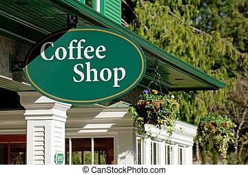 butik, kaffe