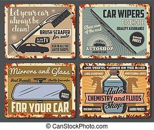 butik, särar, bil, tillbehör, bil, bil