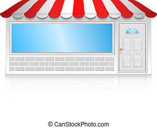 butik, vektor, illustration