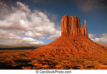 Butte in Monument Valley, Navajo Nation, Arizona