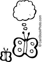 butteflies, cartone animato