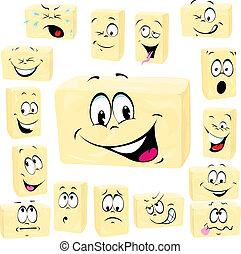 butter cartoon butter cartoon - butter cartoon isolated on...