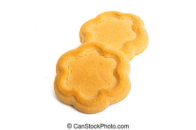 butter cookies isolated
