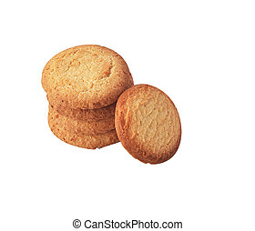 Butter cookies isolated.