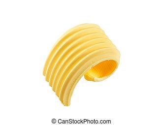 Butter curl - Curl of fresh butter - studio shot