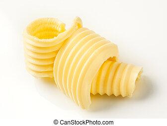 Butter curls - Curls of fresh butter - studio shot