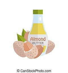 butter., mandorle, mandorla