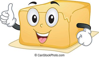 Butter Mascot - Mascot Illustration Featuring a Butter...