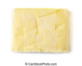 Butter on white background