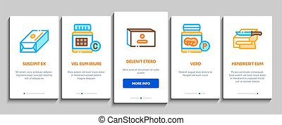 Butter Or Margarine Onboarding Mobile App Page Screen Vector. Butter On Piece Of Bread And Knife, Sliced And Cut, In Package And Bottle, Fat And Vitamin Color Contour Illustrations
